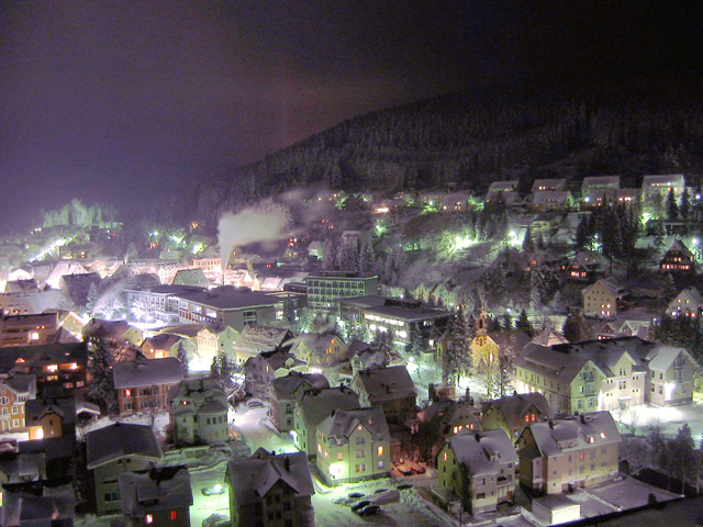 Winternacht in Furtwangen